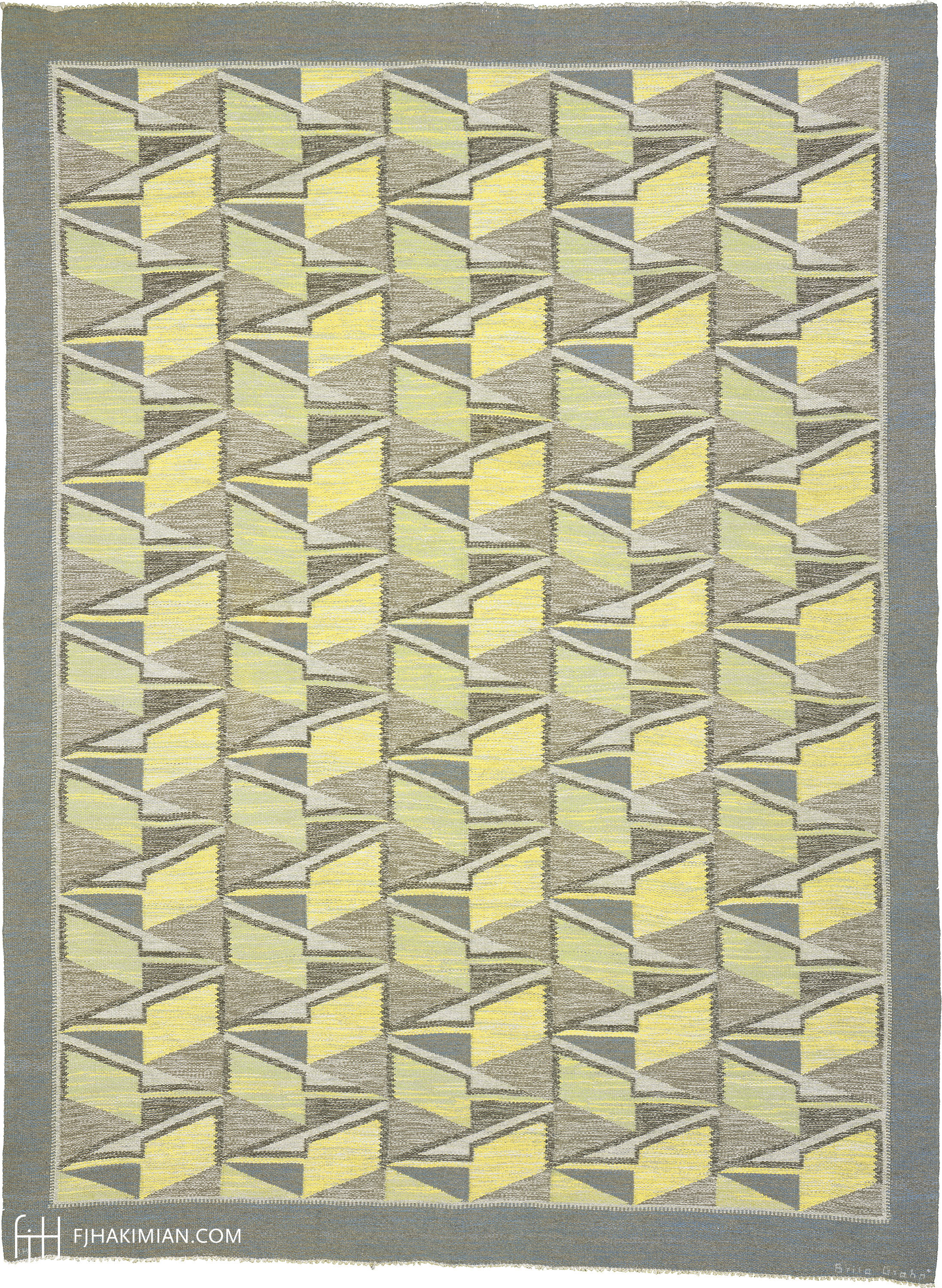 Swedish Flat Wave rug 02925 | FJ Hakimian
