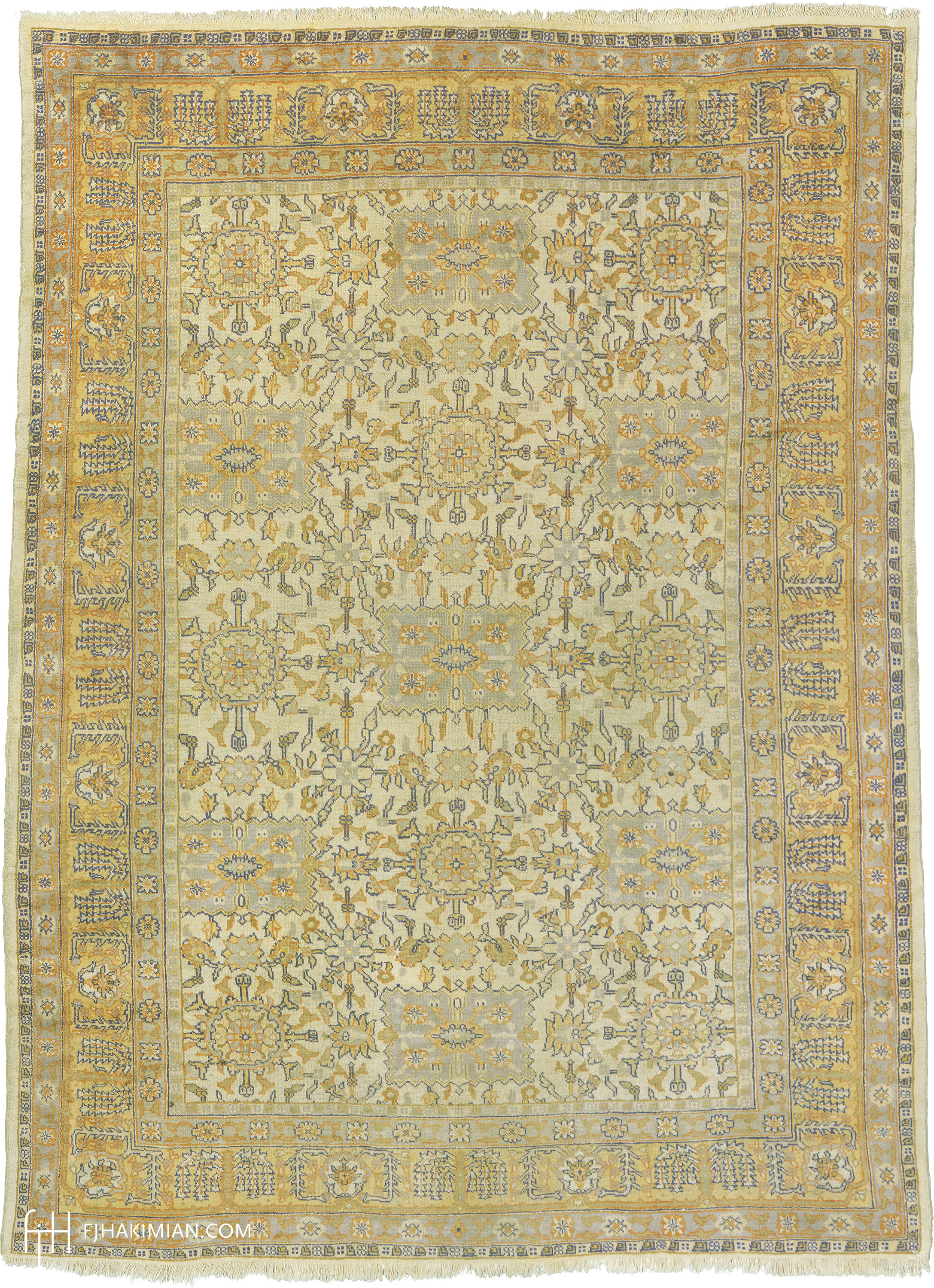 Turkish Oushak Rug #04150 | FJ Hakimian