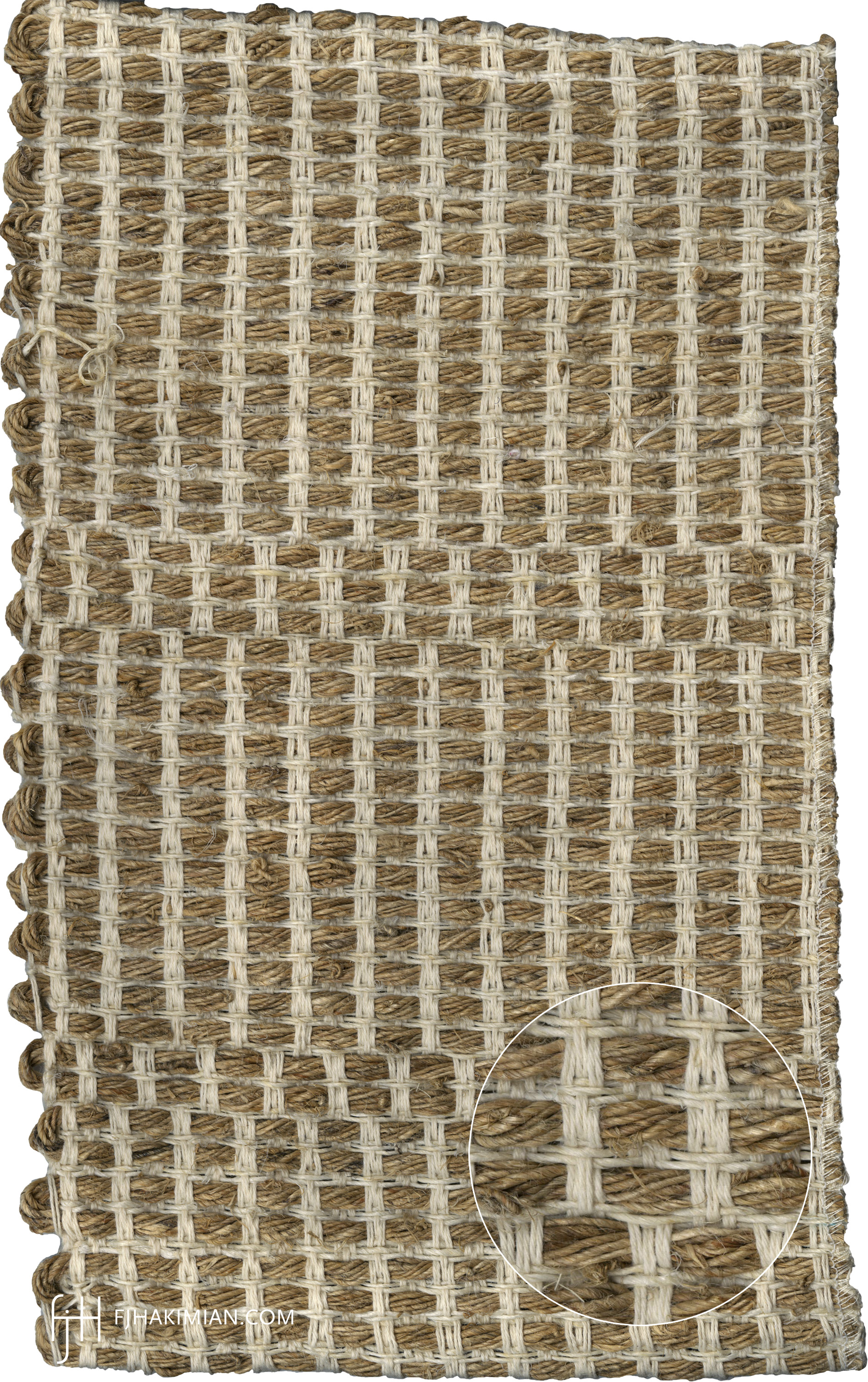 IF-Sardinian-Cotton-Bleached Hemp-Nettle-Mat Sample1- FJ Hakimian