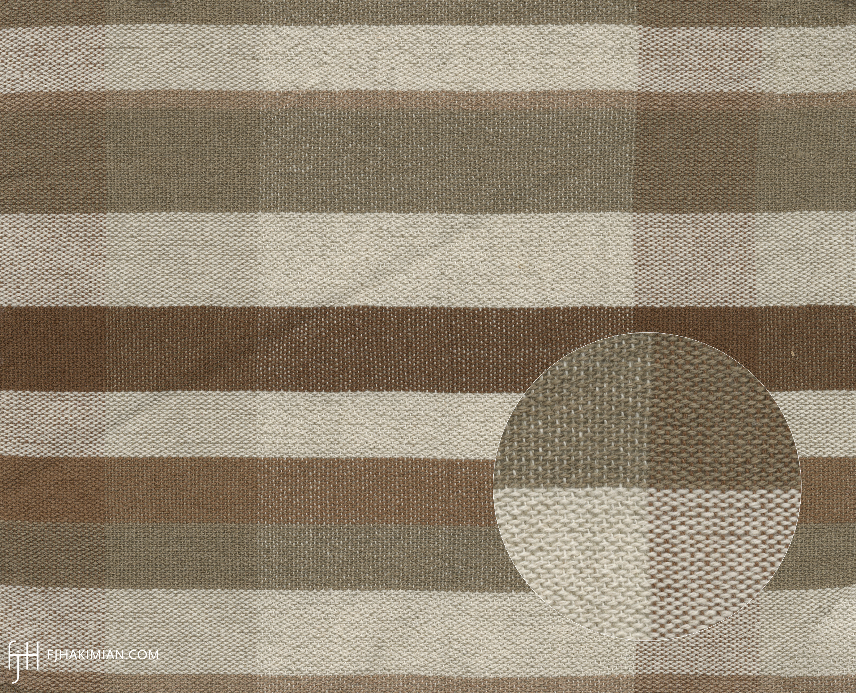 Upholstery Fabric WY-08L-Bone-Olive-Brown | FJ Hakimian